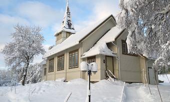 Øvre Rindal kapell vinter innsendt av kyrkjekontoret