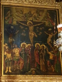 Jesus on cross painting Jerusalem Israel