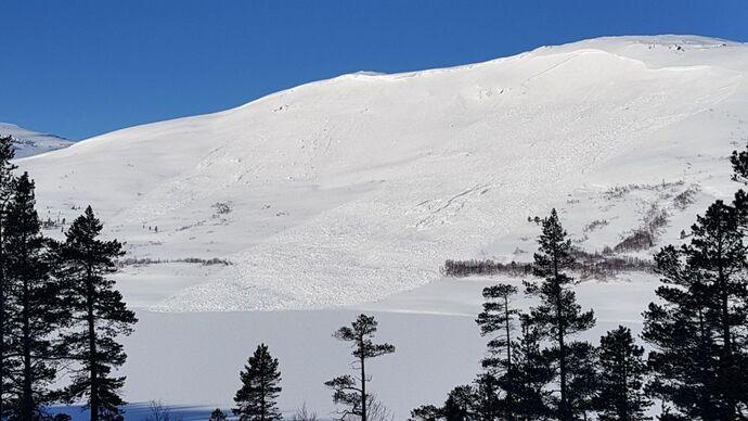 Snøskred bilde 2 uke 16, 2020, sørvest for Gråhaugen fjellstue