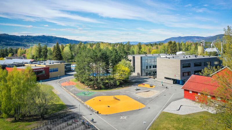 Flyfoto Moelv skole