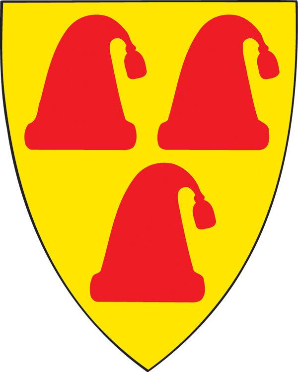 Kommunevåpen med tre nisseluer