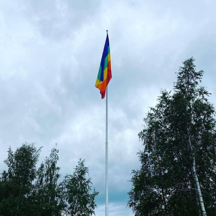 Prideflagg Vefsn kommune