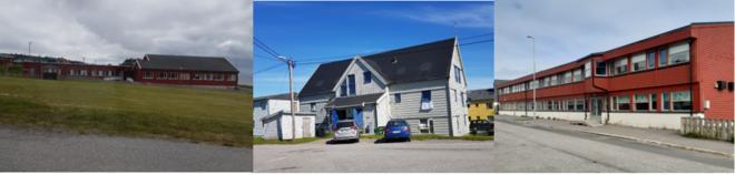 Oversiktsbilde av Vardø barnehage, Vardø barneskole og Vernet botilbud