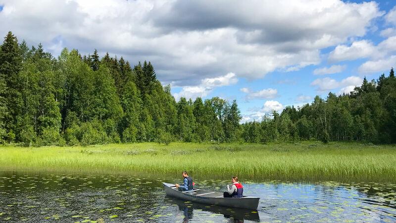 Foto av padling på Næra