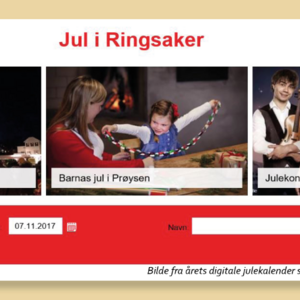 Jul i Ringsaker, digital kalender