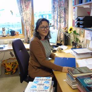 biblioteksjef Berit Fagerland