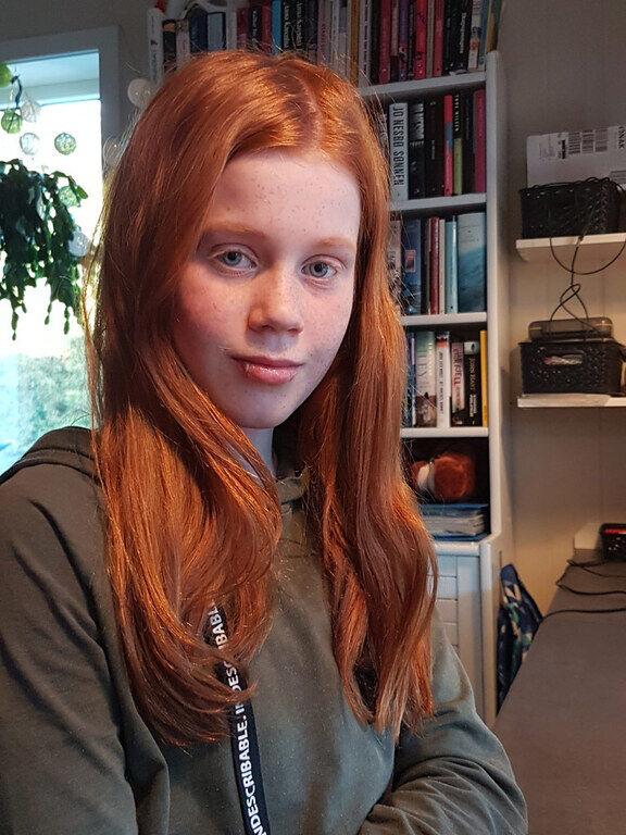 SPENNENDE. Kristin var lettet og fornøyd etter videomøtet med kunnskapsminister Guri Melby. - Hun var hyggelig og forståelsesfull, synes 11-åringen.