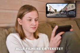 TEKSTET. Kjøreskoleelever kan forberede seg til neste times utfordringer med hjelp av tekstede videofilmer. Fotos. Privat