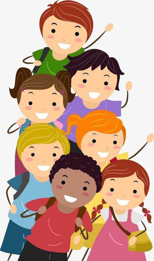 Illustrasjon gruppe barn