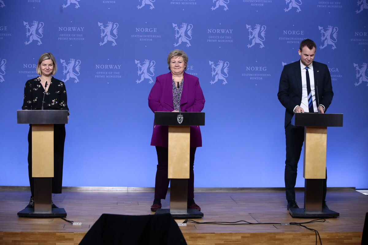 SAMLET. De tre regjeringspartiene Høyre, Venstre og KrF står samlet, sammen med Frp, om å si nei til å innlemme FN-konvensjonen om funksjonshemmedes rettigheter i norsk lov. Foto. NTB