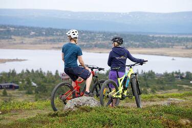Sykkeltur på Sjusjøen
