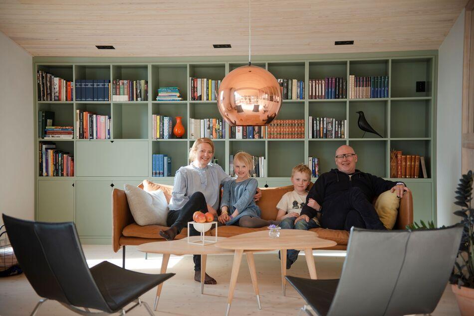 Familien fikk full klaff da de bestemte seg for å flytte til Brumunddal