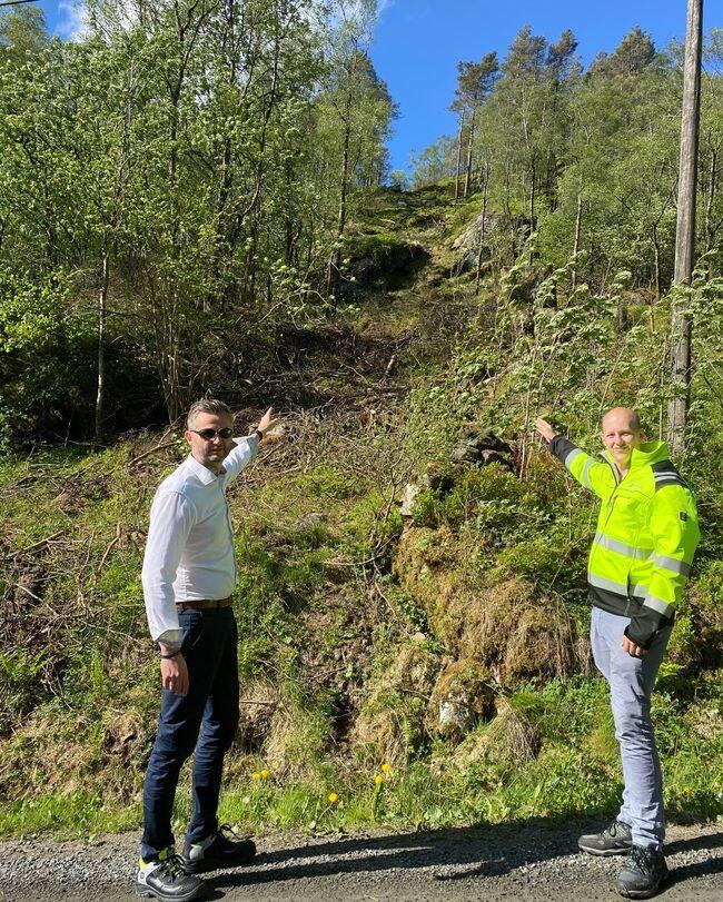 Trase for basestasjon Ulland
