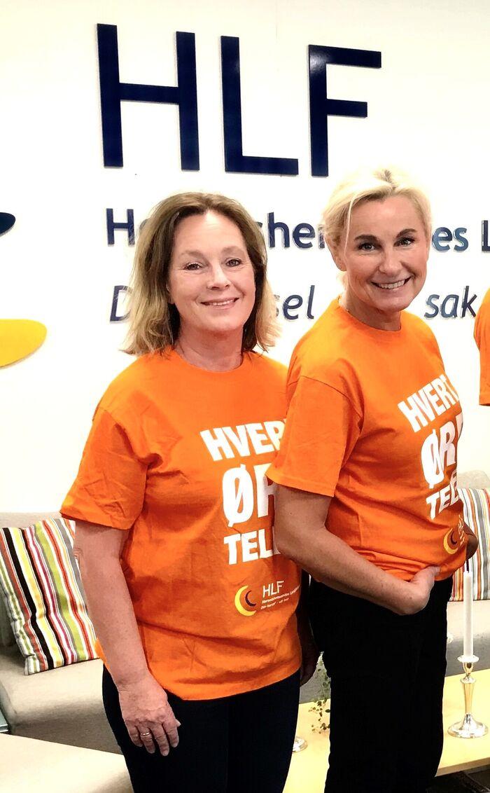 GULLINNSATS. HLFs kampanjeansvarlig Ellen Sagen (fra venstre) og medie- og kommunikasjonsansvarlig Anja Hegg står bak fjorårets digitale HØT-kampanje som nå har høstet to gull for beste markedsføring. Foto. Tonje Getz Taraldsen