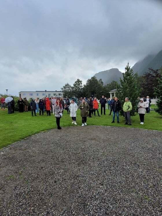 Fra byparken i Mosjøen 22. juli 2022