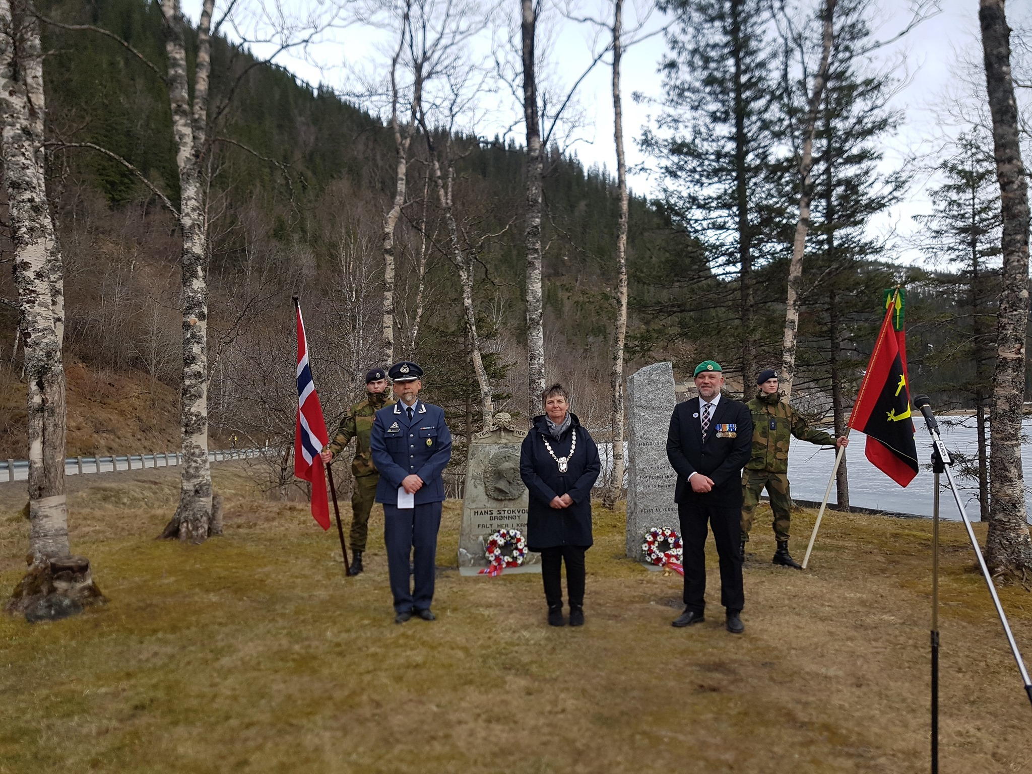Fra markereringen av den Nasjonale veterandagen og Frigjøringsdagen 8. mai 2021