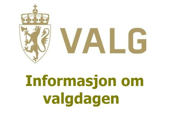 Informasjon om valgdagen