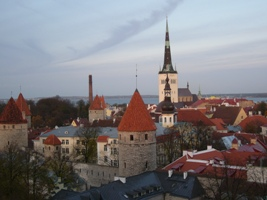 Tallin,harbour,Sant Olav Church